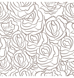 Great seamless pattern with flowers vector image vector image