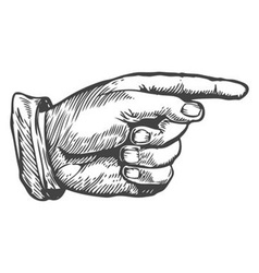 Hand Pointing to the Right vector image vector image