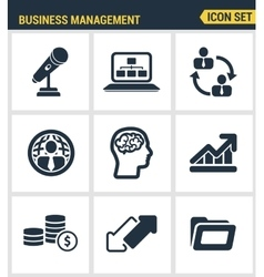 Icons set premium quality of business people vector image vector image