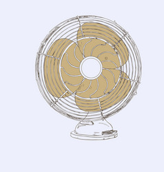 old vintage fan sketch vector image vector image