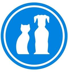 pet blue icon vector image vector image