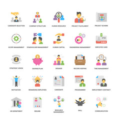 Project management icons collection in fla vector