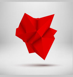 Red abstract polygonal shape vector