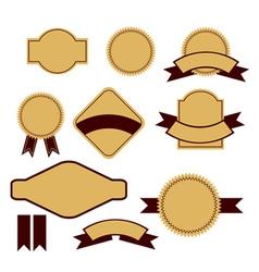 Retro design label set vector image vector image