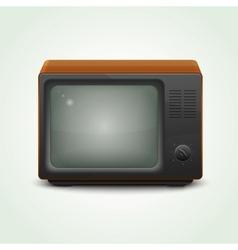 retro realistic tv set vector image vector image