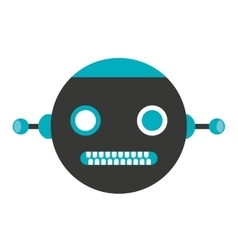robot electric avatar icon vector image