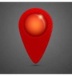 round glossy map pointer vector image vector image