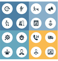 Set of simple service icons vector