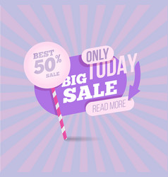 summer sale pastel colors template vector image vector image