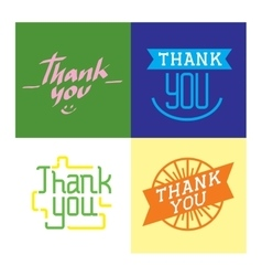 Thank you text lettering vector