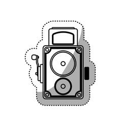 Vintage retro videocamera vector