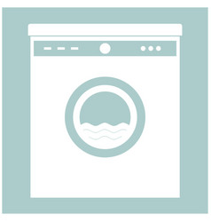 Washing machine the white color icon vector