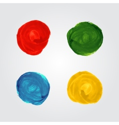 Watercolor circle splash bright elements vector