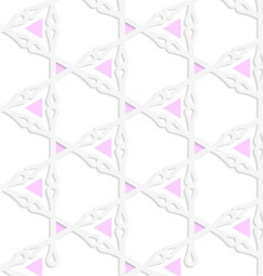 White colored paper pink triangles with clubs vector
