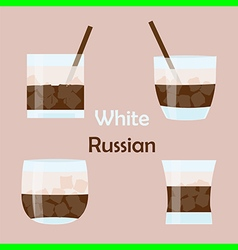 white russian cocktail vector image