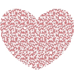 Heart shaped maze vector