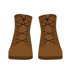 Silhouette with boots brown leather vector