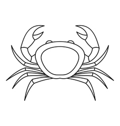 Crab sea animal icon outline style vector