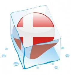frozen button flag of denmark vector image