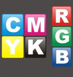 cmykrgb vector image