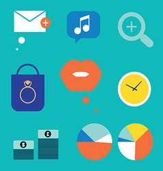 Several icons vector