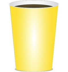 Yellow glass of drink vector