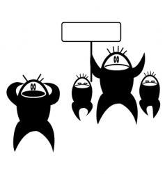 protestors vector image