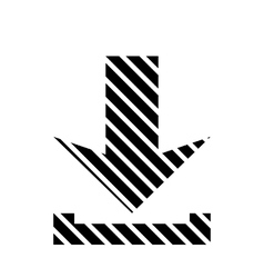 Arrow download button vector image
