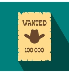 Vintage wanted poster flat icon vector