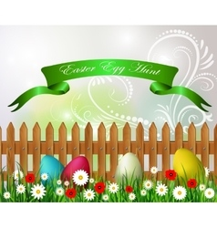 Easter egg hunt background vector