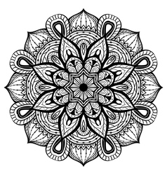 Oriental abstract mandala vector