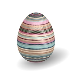 White single easter egg with abstract vector