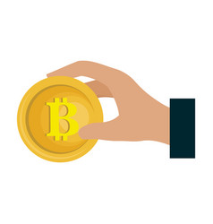 bitcoin electronic money icon vector image vector image