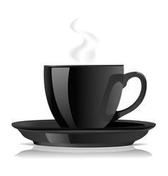 black cofee cup vector image vector image