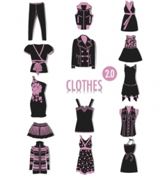 clothes silhouettes vector image vector image