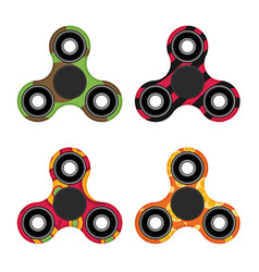 flat hand spinner color set vector image