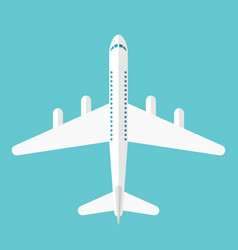 flat style airliner isolated vector image