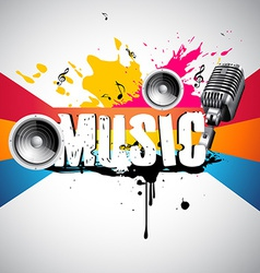 grunge style music background vector image