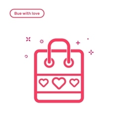 Icon valentines day vector