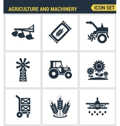 Icons set premium quality of agriculture and vector