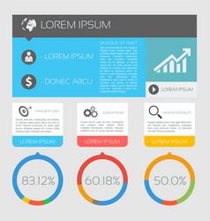 International business infographics vector