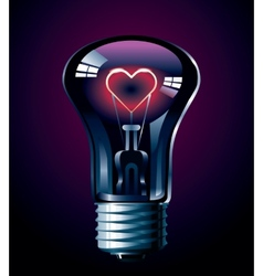 Love glow vector image vector image