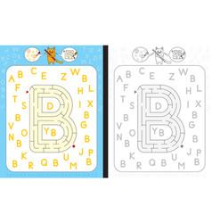 Maze letter b vector
