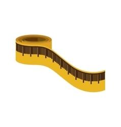 Measurement tape icon vector