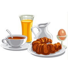 Morning healthy breakfast vector