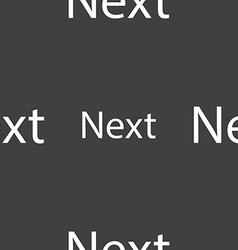 Next sign icon navigation symbol seamless pattern vector