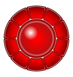Red button with frame vector image vector image