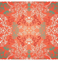 Seamless red floral pattern vector image vector image