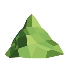 single mountain icon vector image