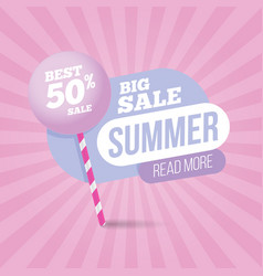 summer sale pastel colors template banner vector image vector image